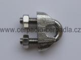 Stahovací sponka pro závěsné lanko 6 mm, nerez A4, pro zavěšení čerpadla