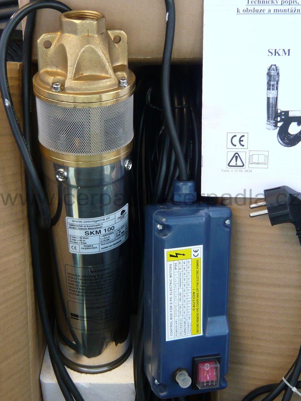 """ponorné čerpadlo 4"""" SKM 150 35m kabel, NEW model čerpadla Kopro (ponorná čerpadla 4"""" SKM 150, do vrtu)"""