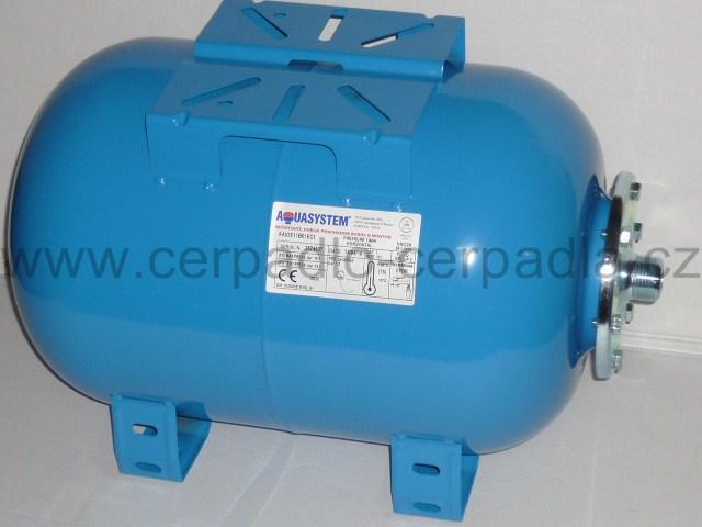 tlaková nádoba AQUASYSTEM VAO 24 (ležatá, tlakové nádoby VAO 24, nádrž na vodu, pro domácí vodárny)