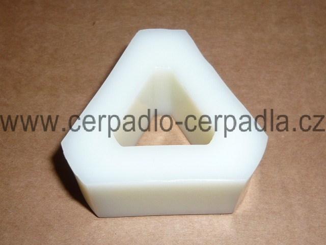 Vložka LKR 75, trojúhelník velký, pro čerpadla SIGMA HRANICE (Vložka spojky LKR 75)