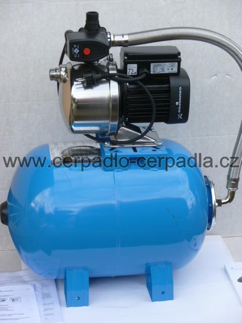 Domácí vodárna Grundfos JP-6/100 litrů, spínač PM/5-3W (čerpadlo Grundfos JP-6)