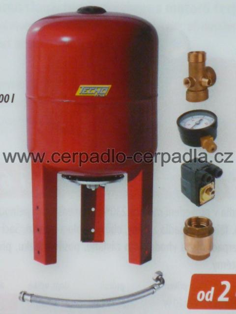 SUBSYSTEM 100, sada pro stavbu vodárny, tlaková nádoba (tlakové nádoby s vyměnitelným vakem, tlakové nádoby TECNO 100)