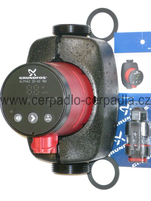 Grundfos ALPHA2 25-80 130, čerpadlo má AUTOADAPT, 98649753 (230V, oběhová čerpadla, ALPHA2 25-80 130mm)