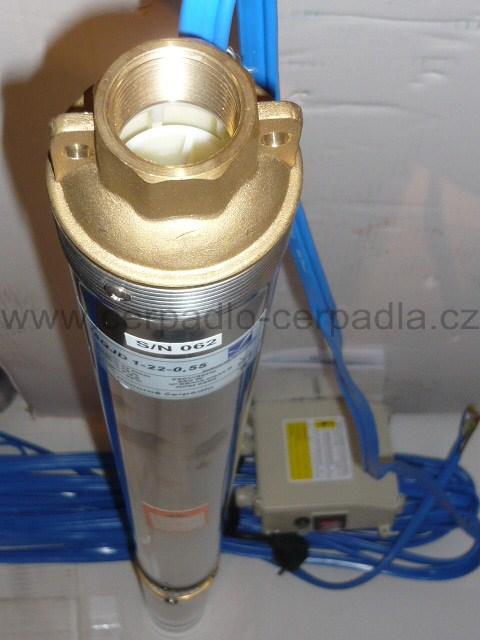 čerpadlo Pumpa 90 QJD 114, 20m kabel 230V spínací skříň (Pumpa 90 QJD 114 0,55kW ponorné čerpadlo)