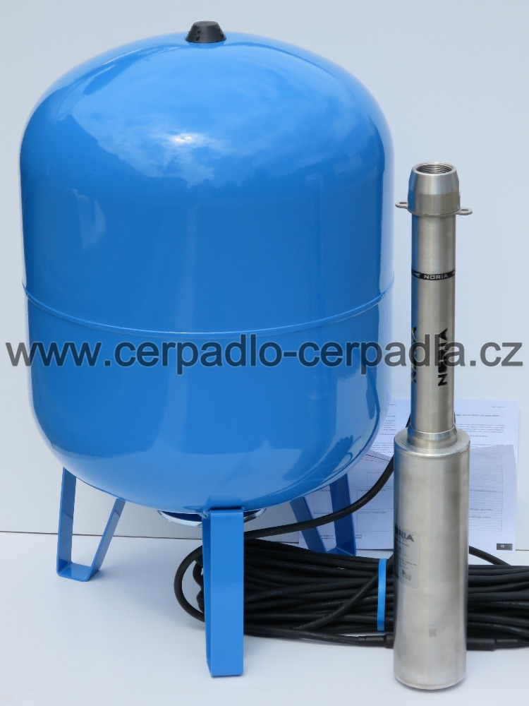 NORIA ADA COOL-N3 35m kabel, čerpadlo a 100 lit nádoba (ponorná vřetenová čerpadla ADA COOL 400V, NORIA)