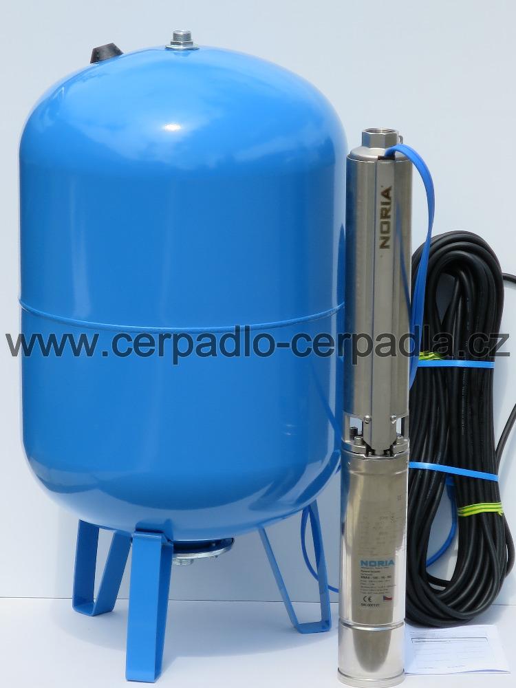 NORIA ANA4-100-16-N3, 25m kabel, čerpadlo a nádoba 100 lit (AKCE DOPRAVA ZDARMA, ponorná čerpadla ANA4)