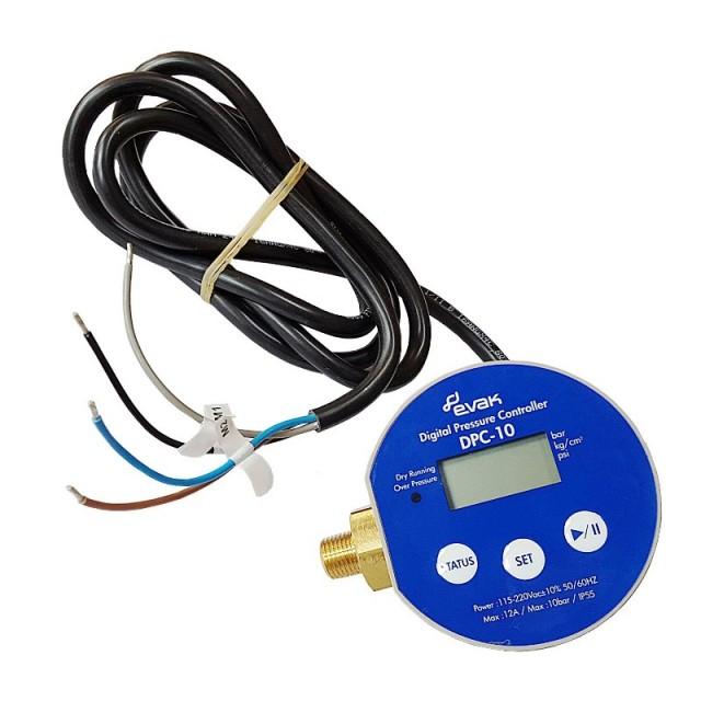 EVAK DPC 10 1,5 digitální tlakový spínač, 230V, 12A, kabel 1,5m