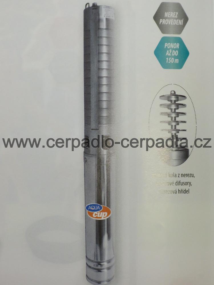 """4"""" ELECTRA INOX 100 70/92 T 1,5m kabel, 400V, ponorné čerpadlo AQUACUP (DOPRAVA ZDARMA, ponorná čerpadla 4"""" ELECTRA INOX 100 70/92 T)"""
