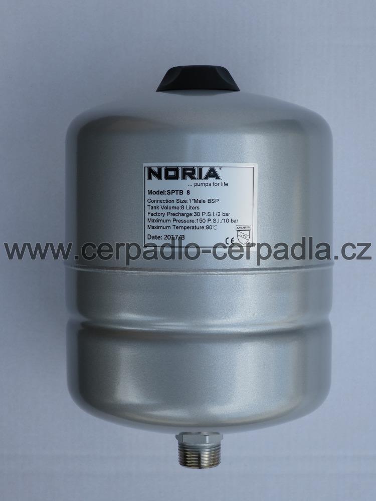 tlaková nádoba NORIA APT-12 (stojaté tlakové nádoby, pro domácí vodárny, záruka 5 let, DOPRAVA ZDARMA, tlakové nádoby APT s butylovou membránou)