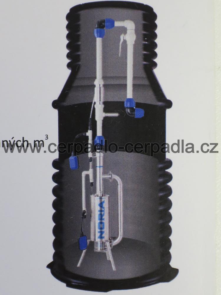 Tlakan P2-N3-KRG, 400V, 15m, NORIA, kanalizační šachta, čerpací jímka, 912315 (čerpadlo Tlakan P2 NORIA, AKCE DOPRAVA ZDARMA)