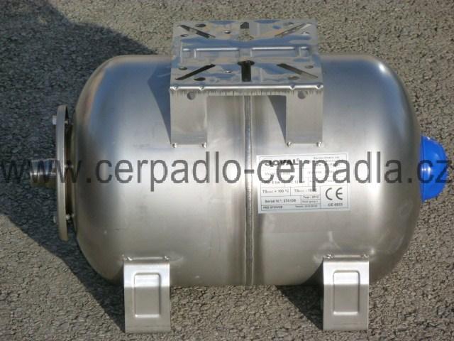 JOVAL HIM 200, nerezová ležatá tlaková nádoba 8bar, s manometrem (JOVAL HIM 200 , AKCE DOPRAVA ZDARMA)