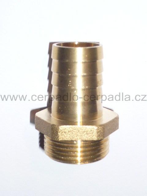 """hadičník vnější 1"""" x 25 mm, mosaz, PR8002 (hadičník 1"""")"""