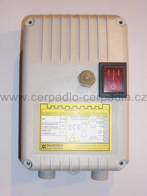 HCP SP-1018, 230V, rozběhová skříňka pro čerpadlo (pro ponorná čerpadla SP-1018 230V)
