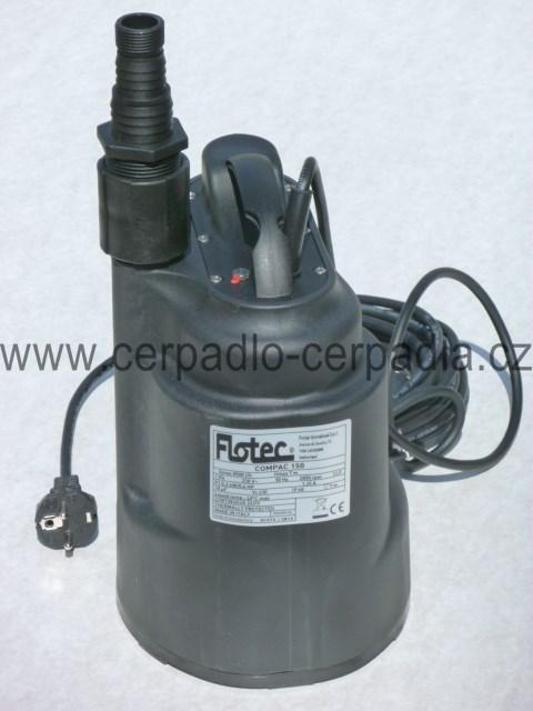 COMPAC 150, drenážní čerpadlo 230V (COMPAC 150 integrovaný plovák čerpadla)