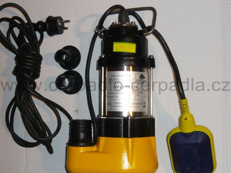 WQ 180 F, 230V s plovákem, kalové čerpadlo (čerpadla WQ 180F, kalové čerpadlo)