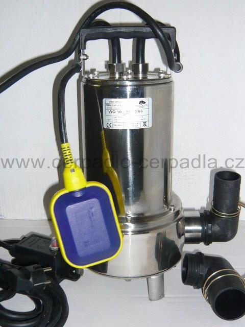 WQ 10-10-0,55 SEPTIK, 230V, NEREZ kalové čerpadlo (kalová čerpadla, WQ 10-10-0,55 SEPTIK, AKCE DOPRAVA ZDARMA)