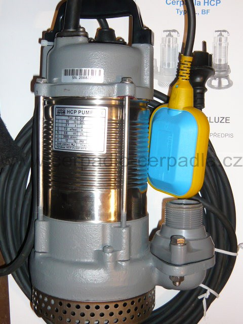 kalové čerpadlo AL-01NF 230V s plovákem (DOPRAVA ZDARMA, kalová čerpadla AL-01NF, HCP)