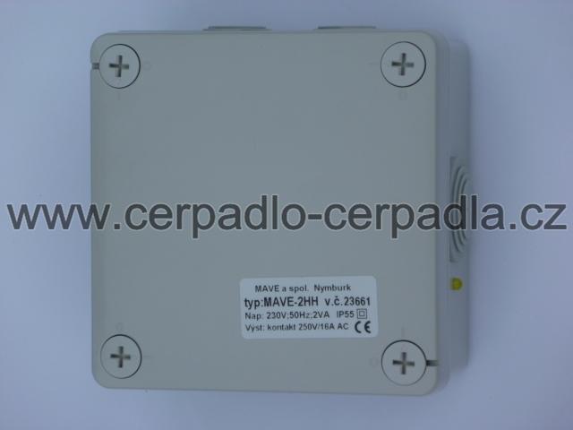 Snímač hladiny MAVE 2-HH2, 230 V AC (hlídání hladiny MAVE 2-HH-2 , 350220)