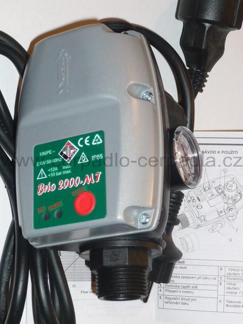 BRIO 2000 MT s manometrem vč. kabelů (průtokový spínač BRIO, jako hydrostat)