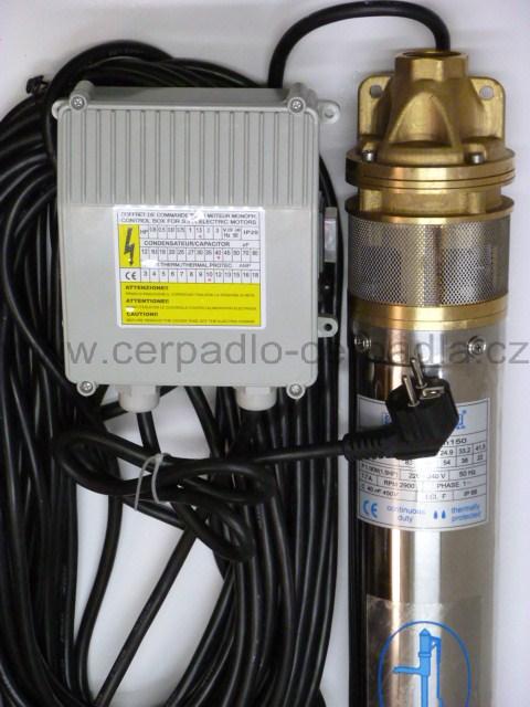 Ponorné čerpadlo do vrtu BLUE LINE 4 SKM 150 25m kabel CECA0022 (DOPRAVA ZDARMA, ponorná čerpadla SKM 150)