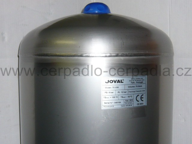JOVAL VIM 50, nerezová stojatá tlaková nádoba 8bar (DOPRAVA ZDARMA, tlakové nádoby JOVAL VIM 50 s vakem)