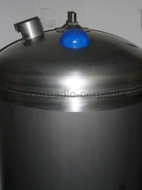 JOVAL VIM 200, nerezová stojatá tlaková nádoba 8bar, s manometrem (s vakem, DOPRAVA ZDARMA, tlakové nádoby JOVAL VIM 200)