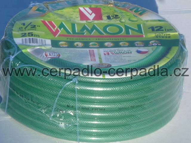 """Hadice zahradní zelená průhledná 1/2"""" VALMON 25 metrů, 12,7-17 (Hadice zahradní , VALMON)"""