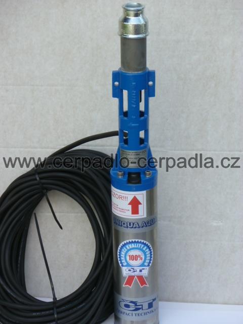 """čerpadlo UNIQUA AQUA T60-56 VM 4"""" kabel 20m, dárek (400V, ponorná vřetenová čerpadla T60-56 VM 4, AKCE DOPRAVA ZDARMA)"""