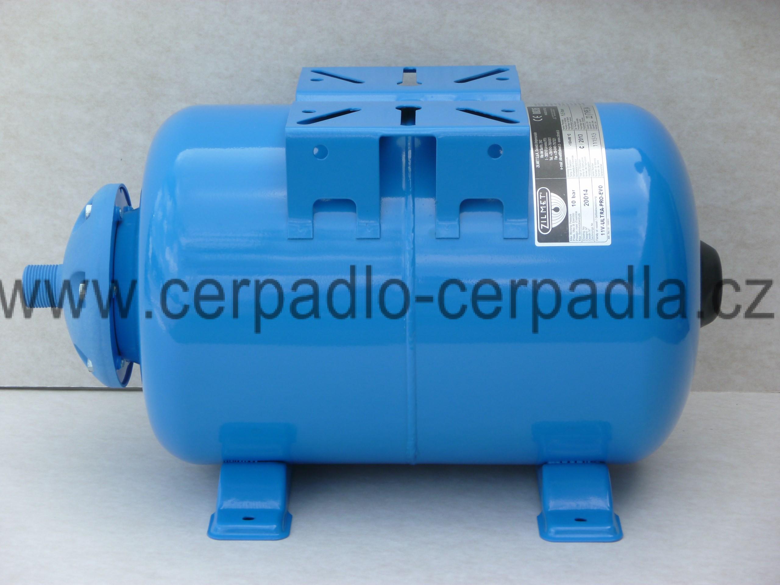 ZILMET ULTRA-PRO 24 L, tlaková nádoba, horizontální (s vakem, tlakové nádoby ZILMET, nádrž pro domácí vodárny)