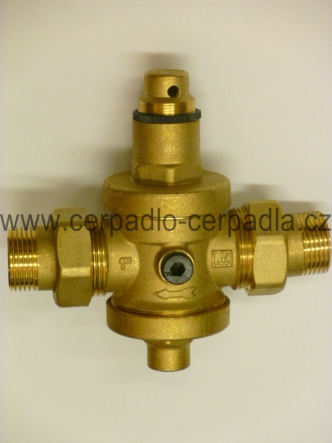 """redukční ventil 1"""" mosaz DN 25 pro čerpadlo (redukční ventil 1"""" se šroubením)"""