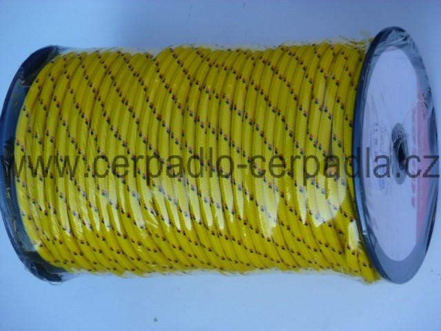 Závěsná šňůra 6 mm s jádrem PPV, 24 pr, 100m (závěsná šňůra 6mm PPV, lanko na zavěšení čerpadla)