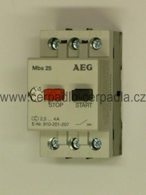 motorový spouštěč MBS25 1,6 - 2,5 A jistič AEG (motorový spouštěč 2,5A)