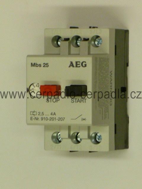 motorový spouštěč MBS25 4-6,3 A jistič AEG