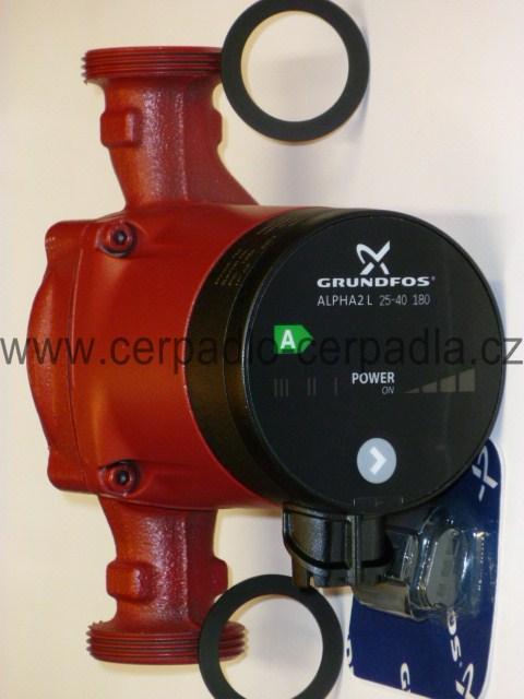 Grundfos ALPHA2 L 25-40 180 (oběhové čerpadlo, 95047562, 230V, oběhové čerpadlo, nemá AUTOADAPT, čerpadla)