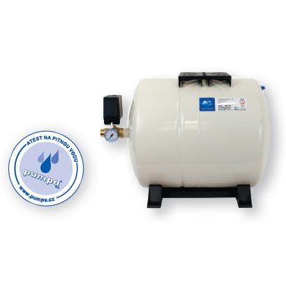 SET GWS 24l ležatá tlaková nádoba, CECK0153 (Vodárna - příslušenství GWS)