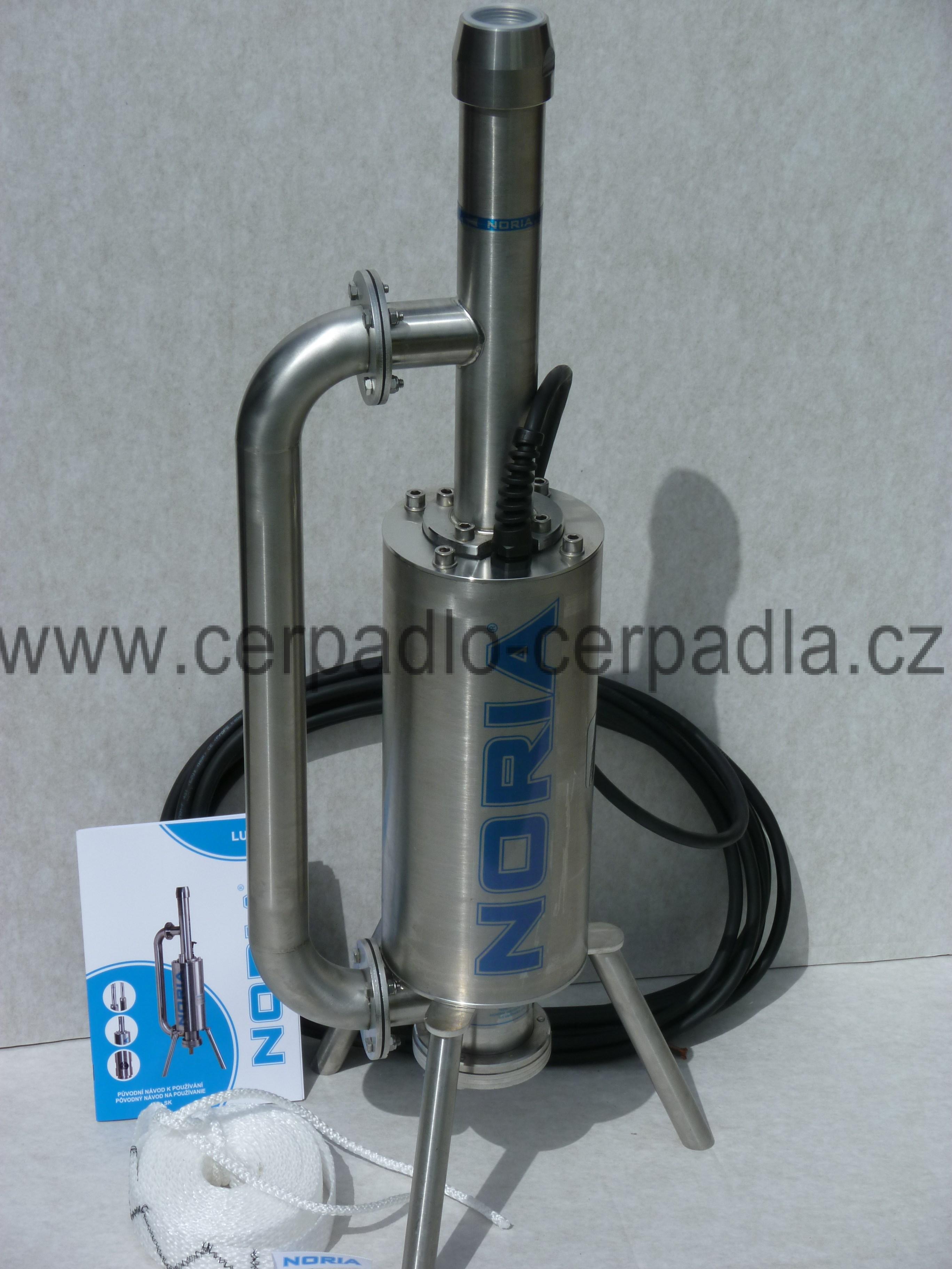 NORIA LUCA-100-16-N3, 10m, kalové čerpadlo, klapka (kalové čerpadlo, AKCE DOPRAVA ZDARMA, kalová čerpadla LUCA, podobné jako EFRU)