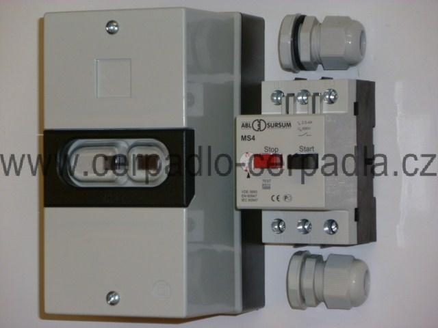 MS tepelné jištění pro motory 400V ELECTRA INOX (MS tepelné jištění, jistič, pro ponorné čerpadlo AQUACUP)