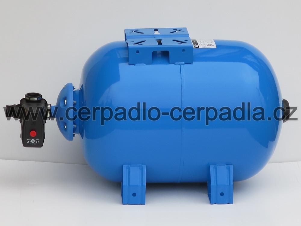 Vodárenský set ZILMET 50 H, tlaková nádoba horizontální, spínač s manometrem (ZILMET ULTRA - PRO 50 litrů. tlaková nádoba + příslušenství tlakový spínač)