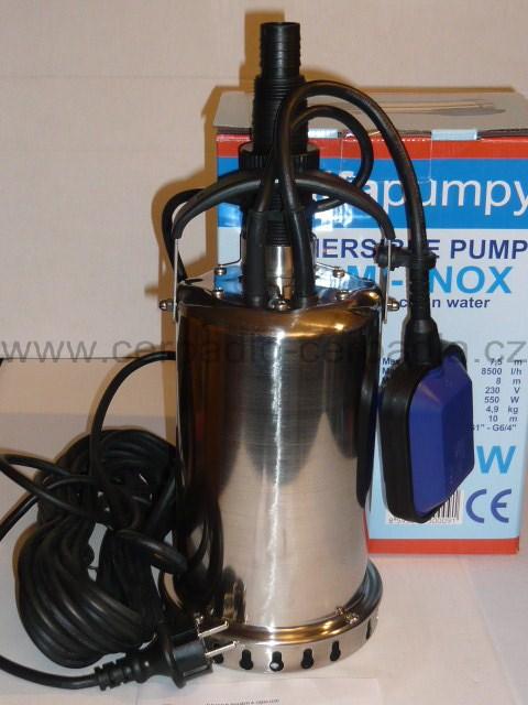 Alfapumpy HC7 M - INOX, čerpadlo (230V, drenážní a kalová čerpadla, čerpadlo HC 7 M - INOX)