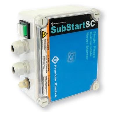 Franklin SubStart 0,55kW-IP54 20uF pro čerpadla Calpeda 4 SDFM 230V (Spínací skříň k jednofázovému ponornému motoru Franklin SubStart)