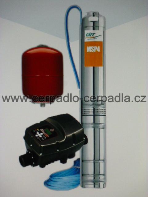 domácí vodárna ELEPHANT PLUS FM, čerpadlo 230V, 20m kabel (Sirio, nádoba, DOPRAVA ZDARMA, domácí vodárny)