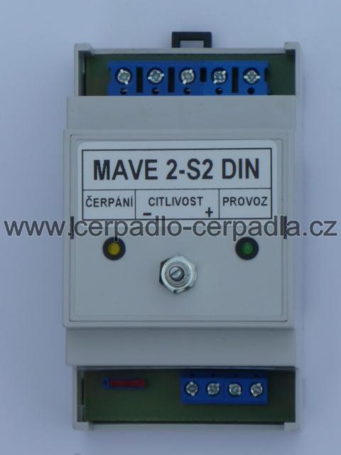 snímač hladiny MAVE 2-S2 DIN, 3502021 (hlídání hladiny, Snímač hladiny MAVE 2-S2 DIN)