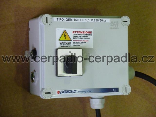 Skříňka QEM 150 pro čerpadlo pedrollo 4 SR4m/14-PD (Skříňka pedrollo QEM 150)