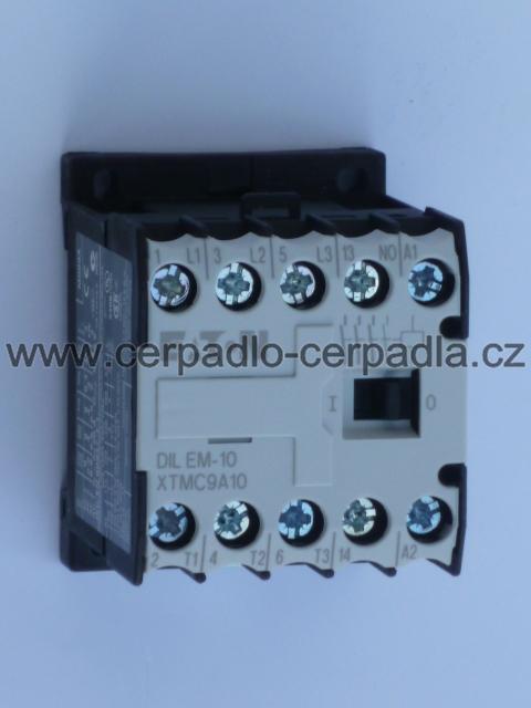 stykač DILEM-10 , XTMC 9A10F , 4kW do lišty (malý stykač 4kW do lišty, vhodný pro kombinaci s MAVE 2-S2 DIN)