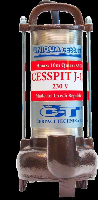 UNIQUA CESSPIT J10 + řezák, čerpadlo (AKCE DOPRAVA ZDARMA, kalová čerpadla, CESSPIT J10)