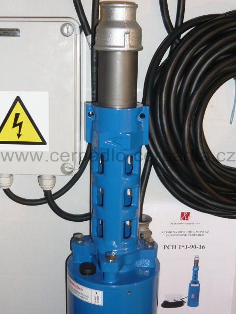 """PCH 1""""J-90-16, 20m kabel, 230V, ponorné čerpadlo 5"""" (PCH 1""""J-90-16 čerpadlo)"""