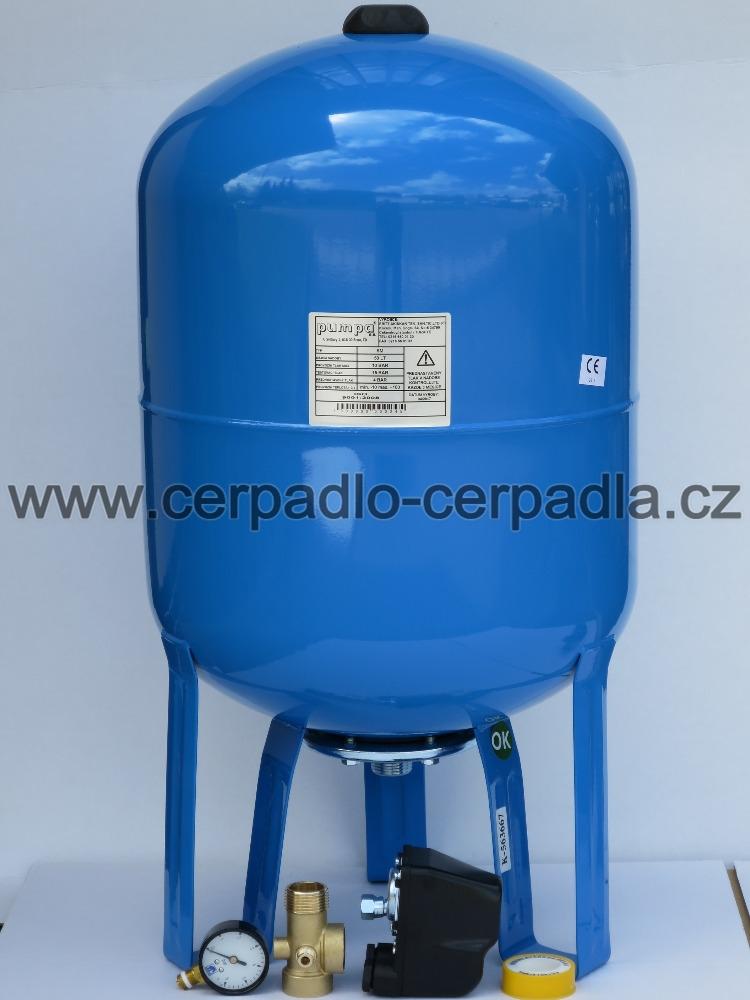 SET tlaková nádoba PUMPA SM 80, tlakový spínač, manometr, uzel, teflon (SET příslušenství a tlaková nádoba PUMPA)
