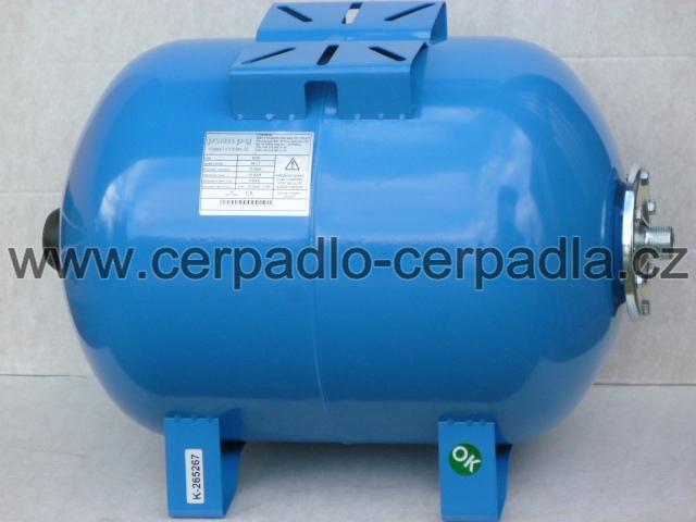 Pumpa SMH 50/10 horizontální tlaková nádoba, ležatá (tlakové nádoby s pryžovým vakem, Pumpa SMH 50/10)