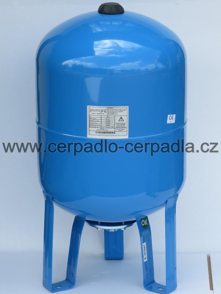 Pumpa SM 80/10 vertikální tlaková nádoba 80 litrů (tlakové nádoby s pryžovým vakem, Pumpa SM 80/10)