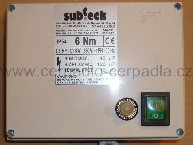 """SUMOTO BOX - kontrolní box s rozběhovým kondenzátorem pro elektromotor 4"""", 230V (pro elektromotor SUMOTO)"""